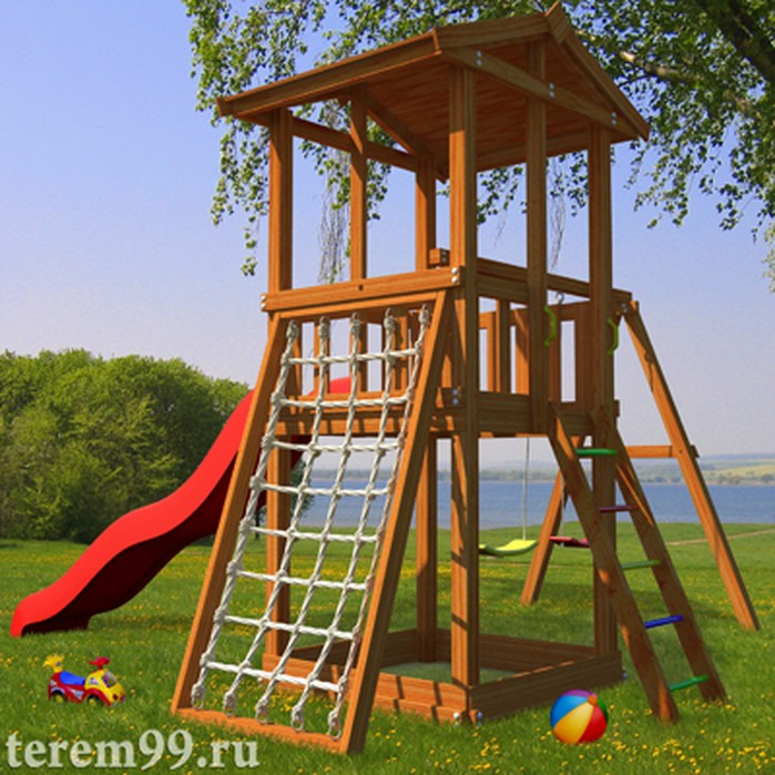 Детские спортивные комплексы из дерева для улицы
