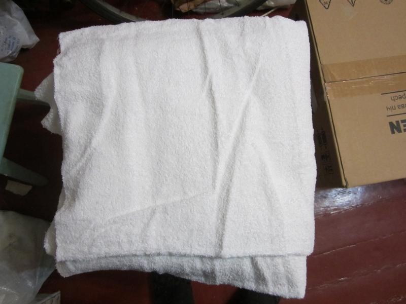 Большая махровая белая простыня160х150 см