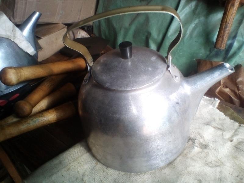 Прочный костровой армейский чайник для походов. Сделано в СССР. 5 л