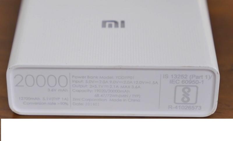 Внешний портативный аккумулятор Xiaomi Mi Power Bank 2V